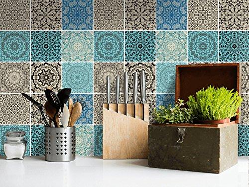 Piastrelle adesive pvc per cucina decorazione moderni adesivi
