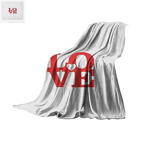 Amazon com: Love Super Soft Lightweight Blanket Valentines