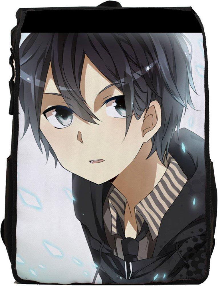 SiawaseyソードアートオンラインアニメKirigaya和人Kiritoコスプレキャンバスバックパックスクールバッグ   B015V2HGEE