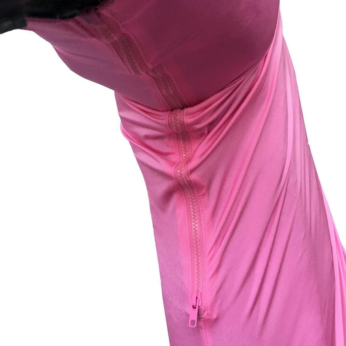 Leberna Lycra Capot de Cheval Extensible avec Zip Couverture de Cou Facial M Rose