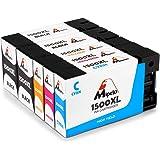 Mipelo Compatible PGI-1500XL PGI-1500 Cartuchos de tinta, Gran Capacidad para Canon Maxify MB2350 MB2050 MB2150 MB2755 MB2155 MB2750 Impresora (2 Negro, 1 Cian, 1 Magenta, 1 Amarillo)