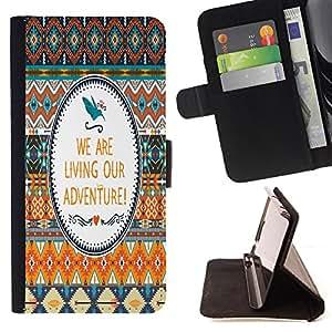 King Case - FOR Samsung Galaxy S4 Mini i9190 - Love is a fire - Prima caja de la PU billetera de cuero con ranuras para tarjetas, efectivo Compartimiento desmontable y correa para la mu?eca