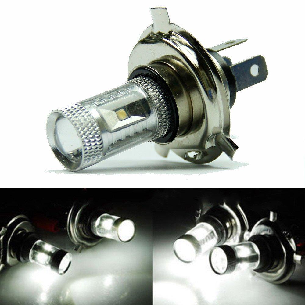 Quaanti 1 Pc COB LED H4 30W Pure White Light Car Head Light Bulb Lamp Signal Parking Dropshipping (White)