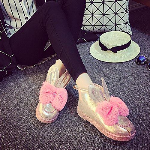 la nieve botas JDS impermeable Rosa Invierno antideslizante para de mujeres de botas Señoras zapatos las termal Fortuning's algodón terciopelo peludo madre aHdwUqa