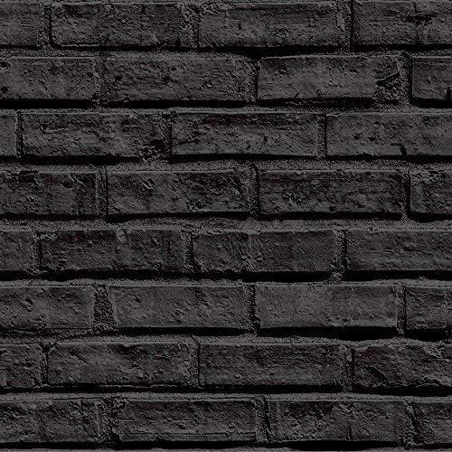Arthouse Black Brick Wallpaper: Amazon.co.uk: Kitchen & Home