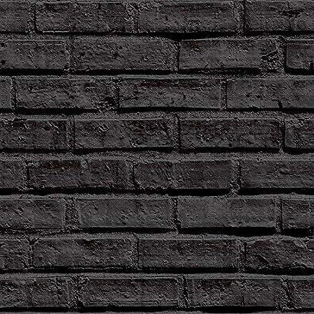 Arthouse 623007 Black Brick Wallpaper Amazon Co Uk Kitchen Home