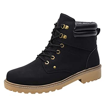 Outdoor Hiking Boots Men Low Ankle Trim Flat Ankle Boots Winter Autumn Casual Martin Shoe