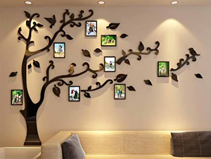 Amazoncom 3d Picture Frames Tree Wall Murals For Living Room