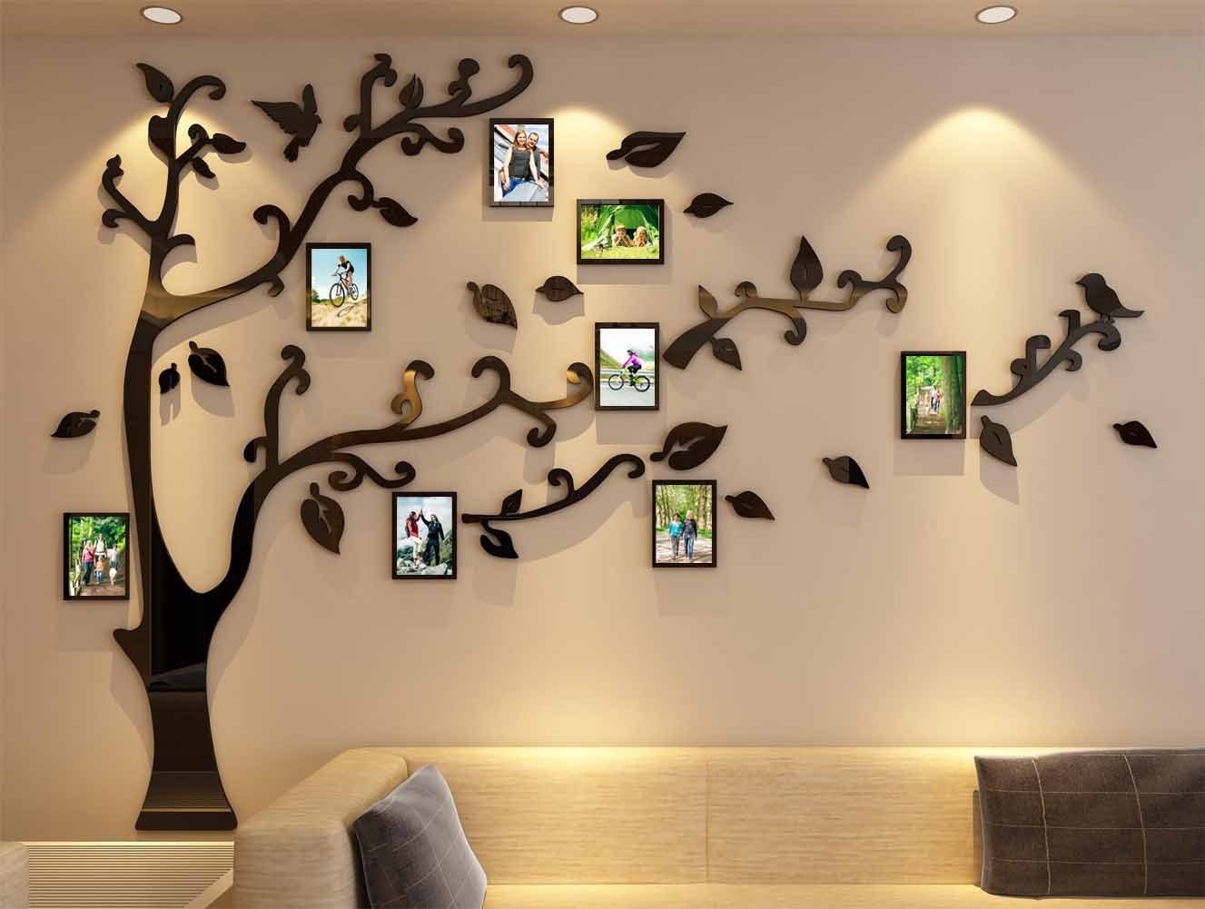 3d Picture Frames Tree Wall Murals for Living Room Bedroom Sofa Backdrop Tv Wall Background, Originality Stickers, Wall Decor Decal Sticker (70(H) x 98(W) inches) by DecorSmart (Image #1)