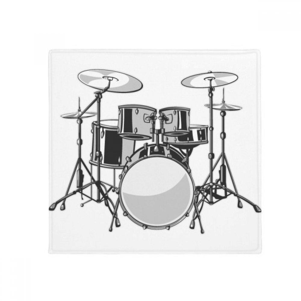 DIYthinker Song Music Drum Kit Energy Illustrate Anti-Slip Floor Pet Mat Square Home Kitchen Door 80Cm Gift