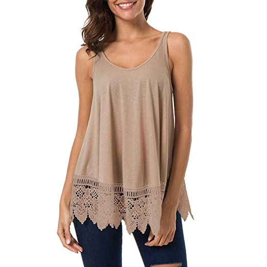 4e17798bbfa46 Amazon.com: Lace Vest for Women,Womens Lace Casual Sleeveless Blouse ...
