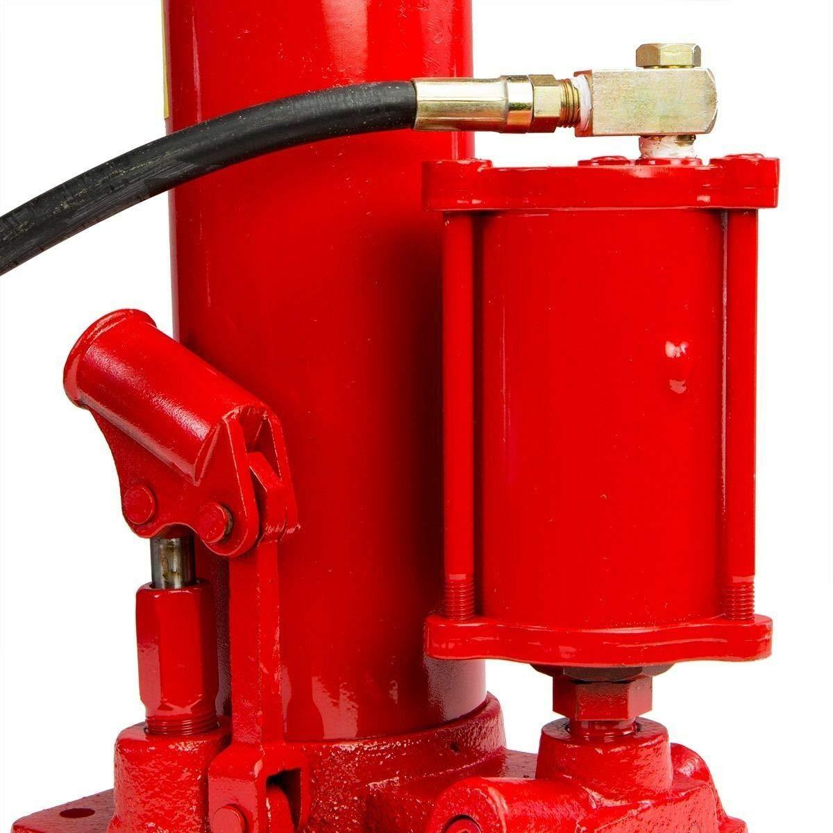 Stroke for Large Lifting Jobs 2 In1 8 Ton Air Manual Hydraulic Ram Jack Pump Engine Lift Hoist Cherry Picker Versatile Use