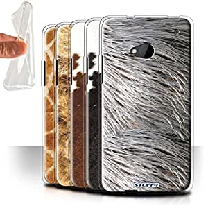 STUFF4 Gel TPU Phone Case / Cover for HTC One/1 M7 / Pack 9pcs Design / Animal Fur Effect/Pattern Collection