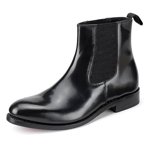 98935b70863 Samuel Windsor Men's Handmade Goodyear Welted Italian Leather & Suede  Chelsea Boot