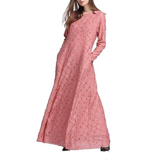 a7f6cf6de42a Amazon.com: Bliss Aceil Kaftan for Women Long Sleeve Lace Long Maxi Dress  Formal Gown Evening Dress: Home Audio & Theater