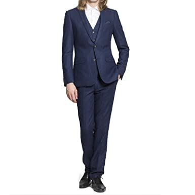 a65f8bc2d34f HARRY BROWN Blue Wool Donegal 3 Piece Slim Fit Suit 36 to 48 at ...