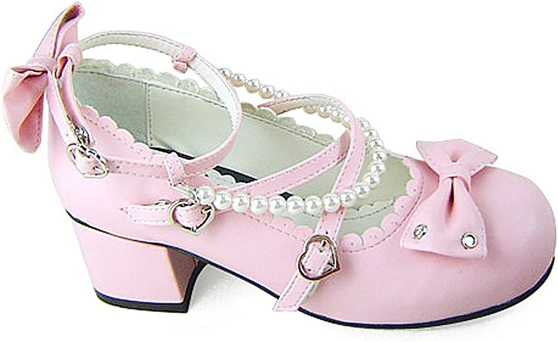 Amazon.com   Antaina Low Heel Pink PU