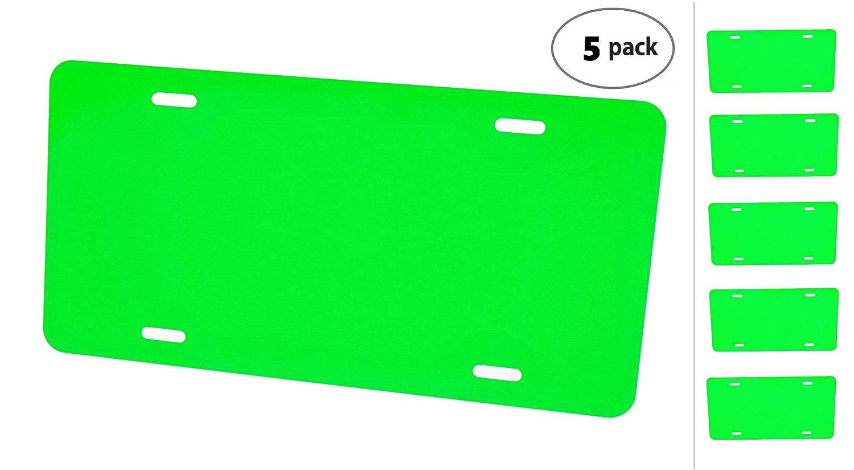 Anodized Aluminum License Plate Blank Heavy Gauge .040 1mm Green Light - 12x6 Partsapiens Corp