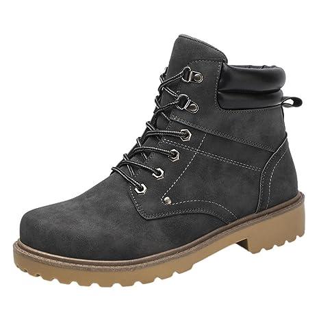 XINANTIME - Zapatillas Hombre impermeable Tobillo bajo Recortar Tobillo plano Invierno Otoño Botas Casual Martín Zapatos
