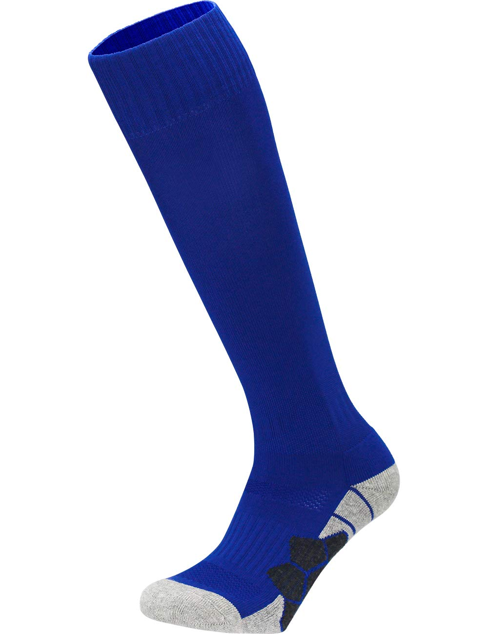 Youth Kids Adult Knee High Cotton Sports Compression Socks Boys Girls Parent-Child Outdoor Active Long Towel Bottom Socks, 1-Pair Blue, Size L (Kids 9C-13C / W 10-13 / M 8-12) by APTESOL
