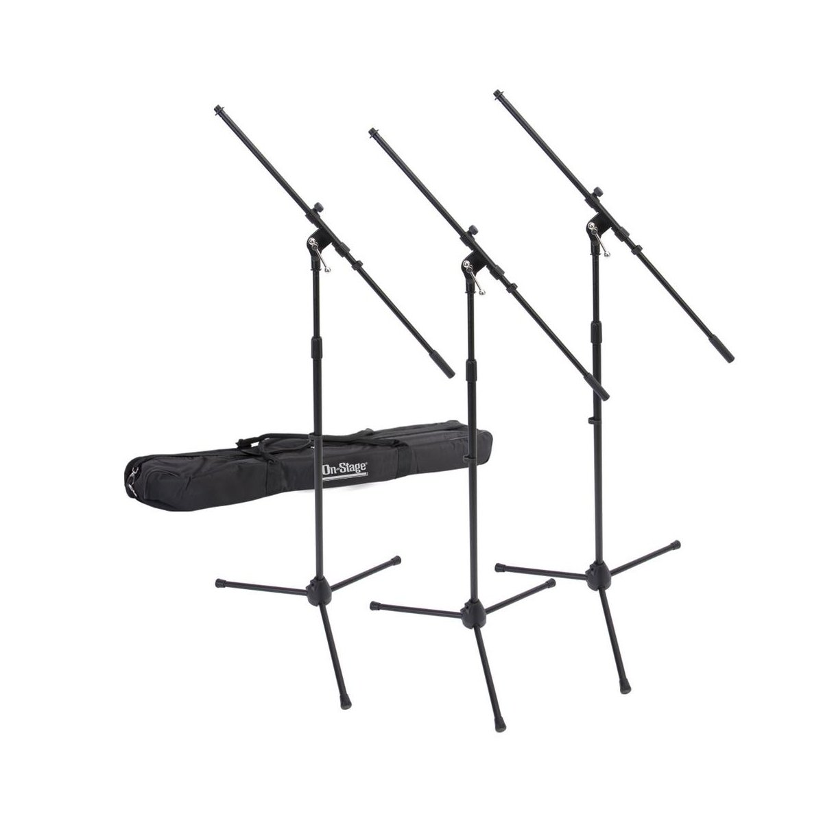 On-Stage MSP7706 Six Euroboom Microphone Stands with Bag On Stage