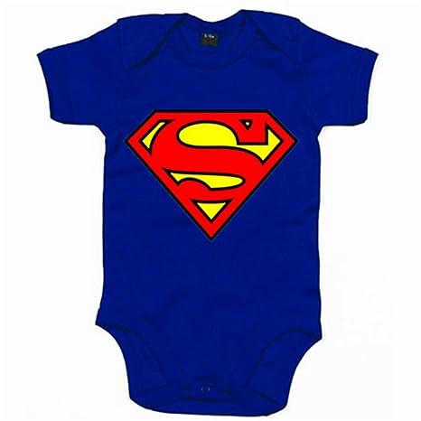 Body bebé Superman logo - Azul Royal, 6-12 meses