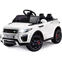 Rovo Kids Range Rover Evoque Inspired 12v Ride On Car with Charger and Remote Control, White