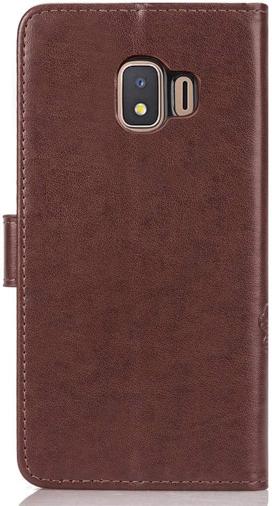 Portefeuille /Étui en Cuir Synth/étique Fonction Stand Case Housse Folio /à Rabat Compatible avec Samsung Galaxy J2 Core//J260F TOSDA040272 Bleu Tosim Coque Galaxy J2 Core
