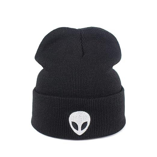 Man Alien Winter Hat Cool Aliens UFO Fans Winter Woman Warm Knitted Beanie  Hip Hop New 46167daafa16