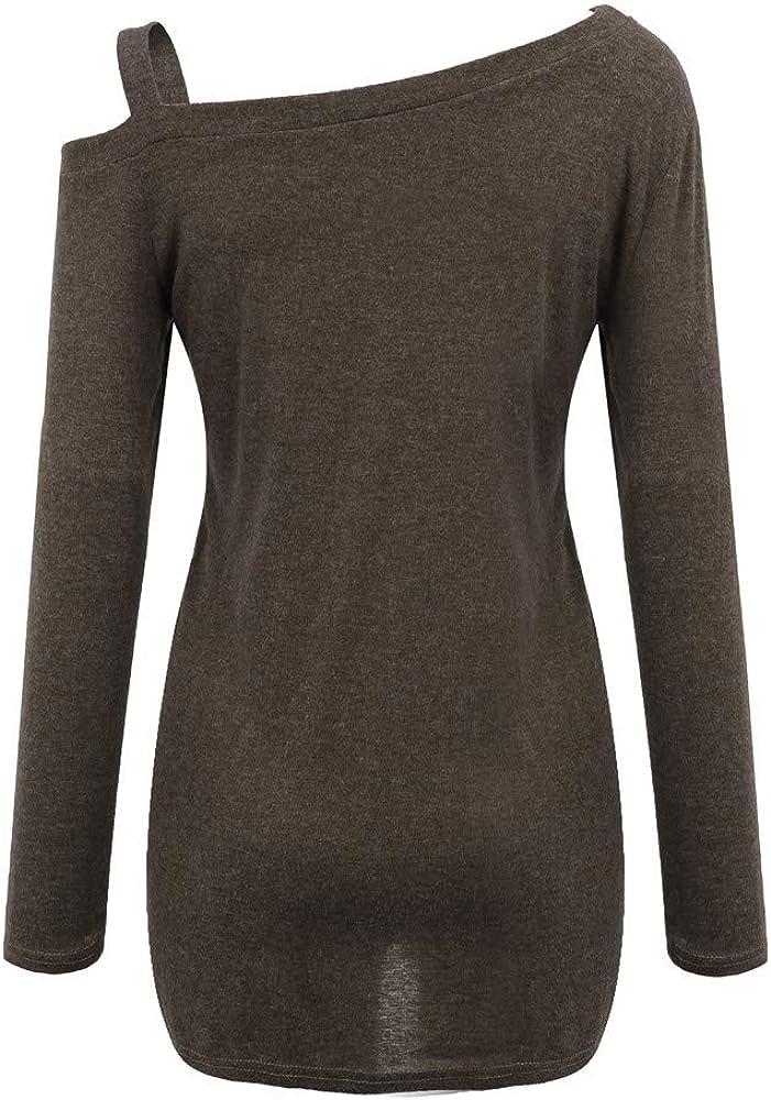 Camisas Mujer Casual, Camiseta de Cuello Alto de Solapa Casual ...