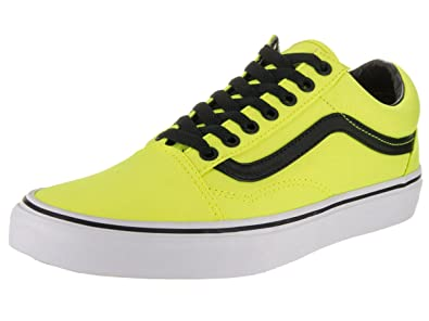 b8abea7b1700 Vans Unisex Old Skool (Brite) Neon Yellow and Black Sneakers - 7 UK India  (40.5 EU)  Buy Online at Low Prices in India - Amazon.in