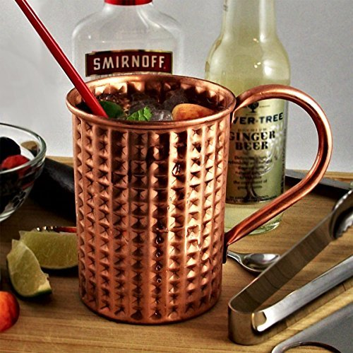 Moscow Mule 100 % Solid Pure Copper Unlined Mug /Cup