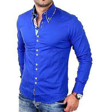 4fad7fe6d872c Carisma - Chemise fashion homme Chemise CRSM110 bleu roi - XL - Bleu ...