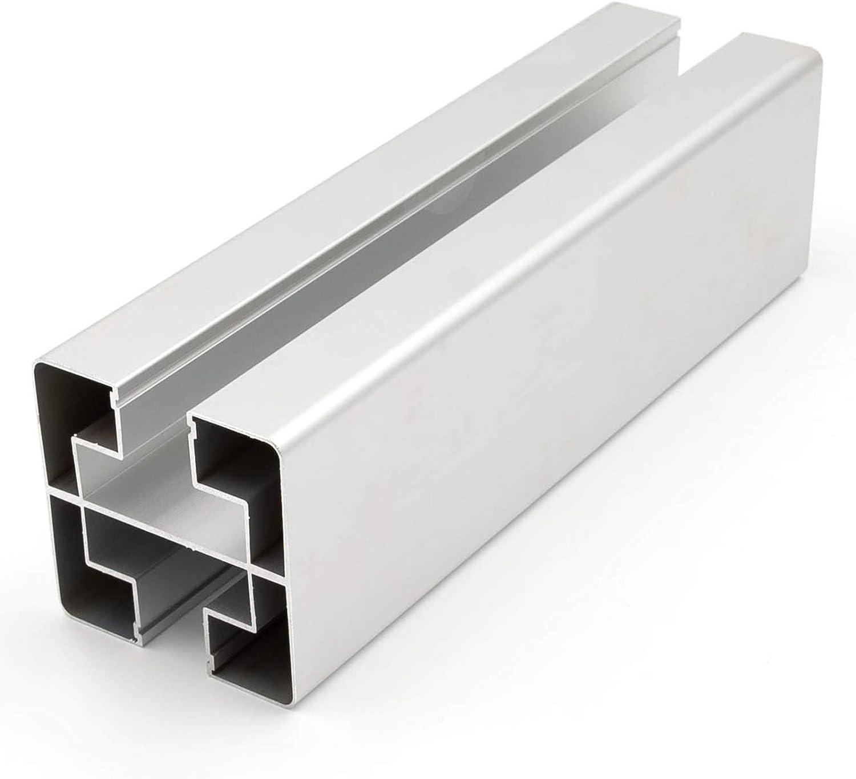 HORI/® Pfosten f/ür WPC-Zaun-Design I silber I f/ür 180 cm Zaunh/öhe I Konsole zum aufschrauben