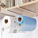 Under Cabinet Paper Roll Towel Hang Holder Rack Iron Kitchen Storage Organizer
