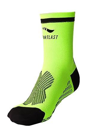 Sportlast Pro Calcetines de Tenis, Amarillo/Negro, L