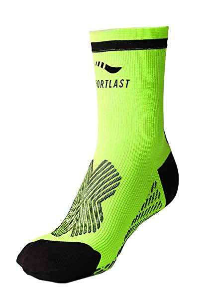 Sportlast Pro Calcetines de Tenis, Amarillo/Negro, L: Amazon ...