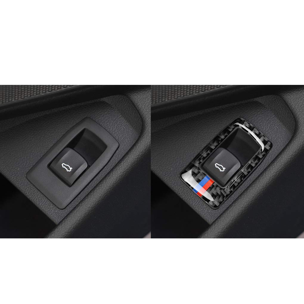 Hotaluyt Replacement For 3 Series G20 G28 325li 330d 335 2019-2020 Rear Trunk Opening Switch Panel Frame Cover Carbon Fiber