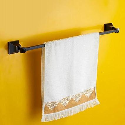 Aoliei Dibujo Acero Inoxidable baño Varilla Individual toallero baño toallero Colgante de Metal 64cm