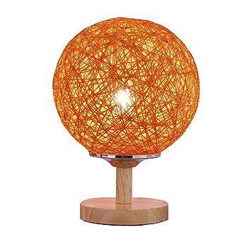 XZHU Lámparas de mesa de ratán creativas, nórdico LED Base de ...