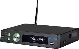GT MEDIA V8 Turbo Digital Satellite Receiver Terrestrial Decoder with CA Card Slot for TIVASAT, DVB-S2X +T2 + Cable T2-MI, FTA Full HD 1080P/ H.265 10bit/ YouTube/ CCcam/ HDMI/ SCART/ PVR