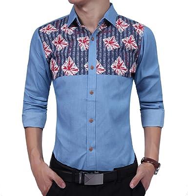 CHENS Camisa/Casual/Unisex/XL Moda Masculina Camisa Manga ...