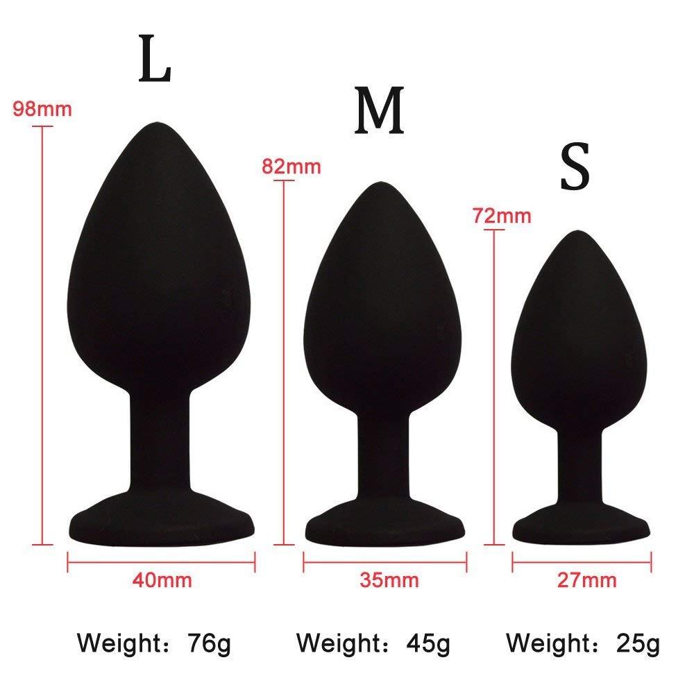 BTAI.T 4 Color 3 Size Annnnal Pllllug Silicone Buuuutt Adult Seeeeexx Toys for Men for Women(S.Orange) by BTAI.T (Image #2)