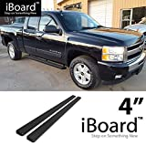 """For 1999-2013 Chevy Silverado/GMC Sierra 1500/2500 Double Cab & 2001-2014 2500HD/3500 (Excl. C/K Classic) (Nerf Bar   Side Steps) 4"""" Black eBoard Running Boards"""