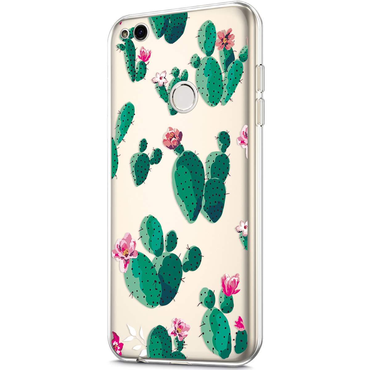 Felfy Kompatibel mit Huawei P8 Lite 2017 H/ülle,Kompatibel mit Huawei P8 Lite 2017 Handyh/ülle Transparent Silikon Schutzh/ülle Elegant Muster D/ünn Weich Klar Silikonh/ülle Sto/ßfest Schlank Cover Case