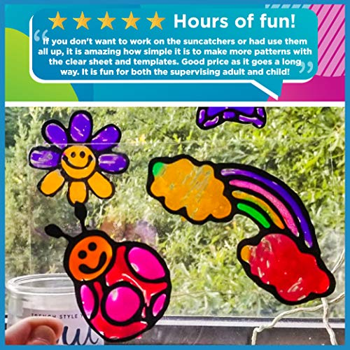 Made By Me Create Your Own Window Art by Horizon Group USA, Paint Your Own Suncatchers. Kit Includes 12 Pre-Printed…