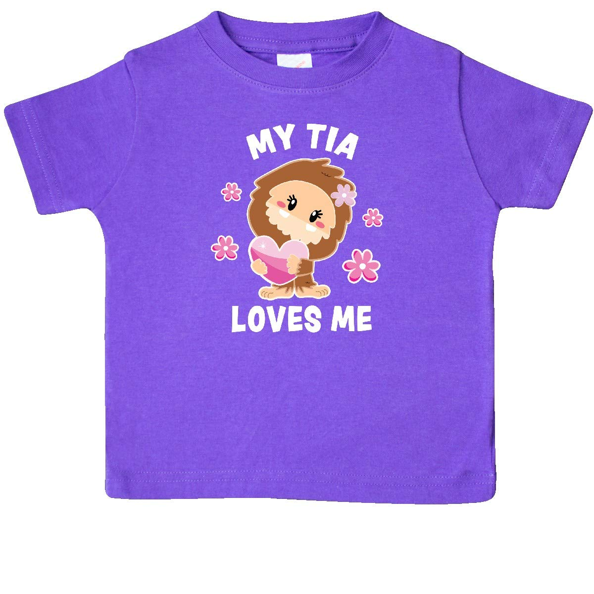 inktastic My Tia Loves Me with Bigfoot Baby T-Shirt
