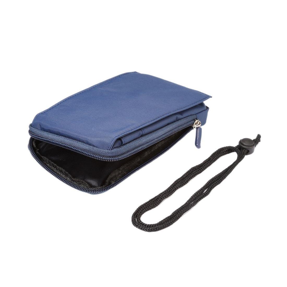 Funda Multiusos Universal con Varios Compartimentos para Cinturon y Mosqueton para = Huawei P20 Pro  Azul XXM 18 x 10 cm DFV mobile