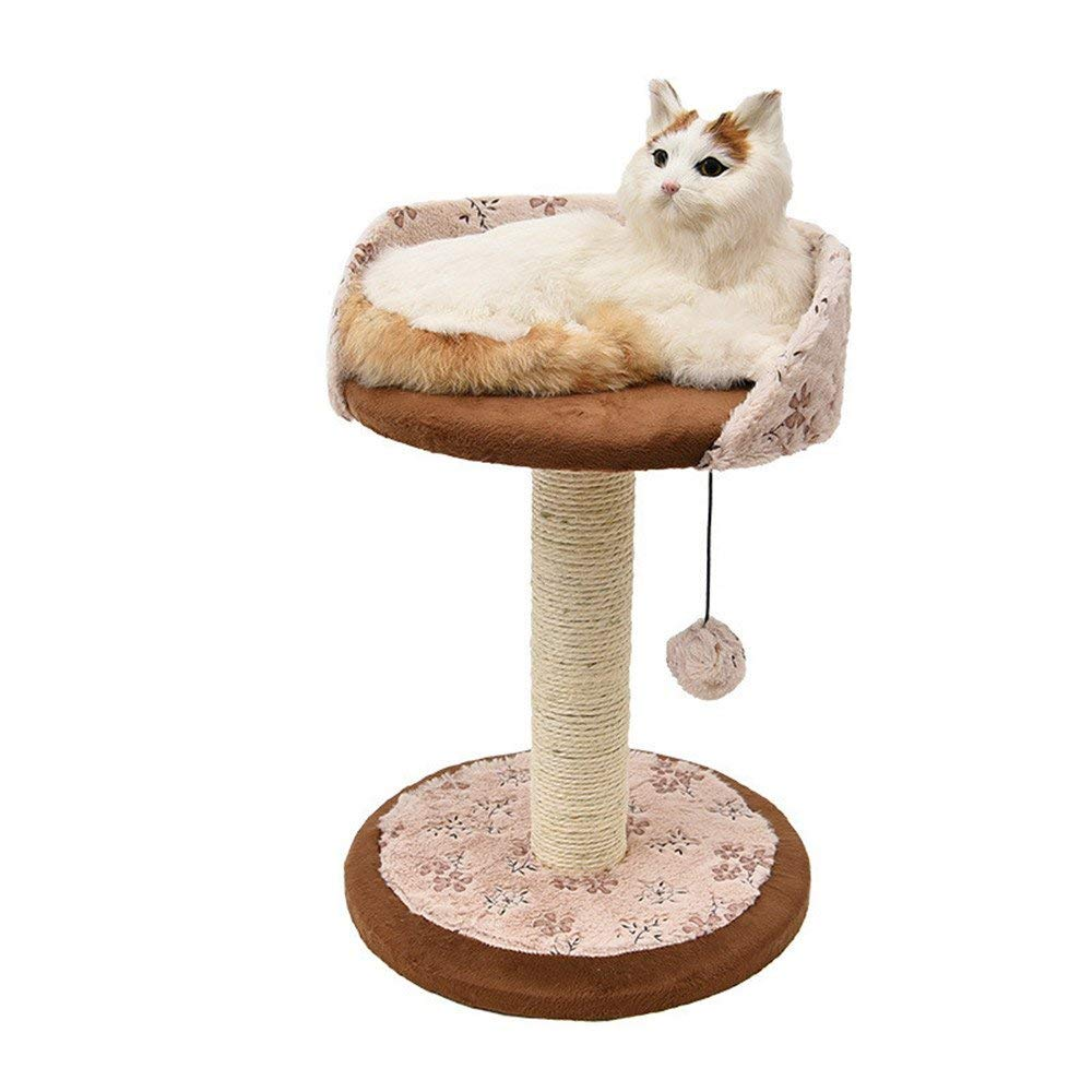 Cat Furniture Play Towers and Trees A Natural Sisal Rope Cathead Cat Toy Cat Tree Cat Toys, Pet Supplies