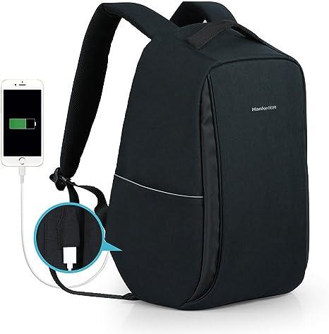 Amazon.com: Hanke mochila antirrobo resistente al agua para ...